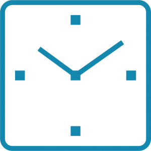 Illustration of a blue clock